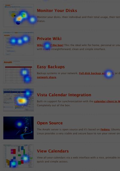 Amahi Linux Home Server Features Heatmap